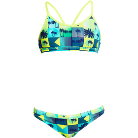 Funkita Bikini Dos Piezas Racerback Niñas, pop tropo
